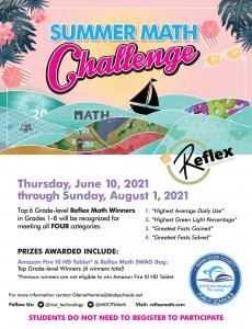 Reflex Summer Math Challenge