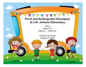 Pre-K and Kindergarten Orientation @ JW Johnson Elementary | Safford | Arizona | United States
