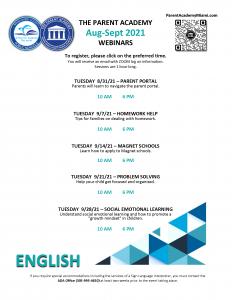 TPA Live Webinars: August & September 2021